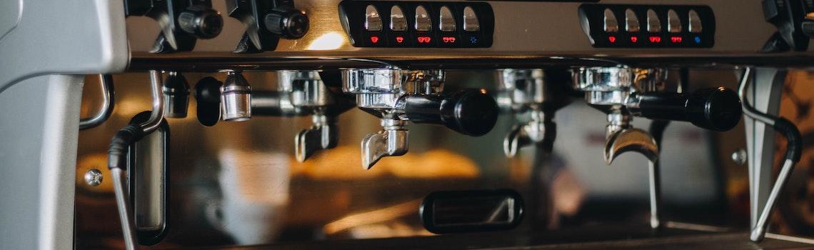 Eine Espressomaschine