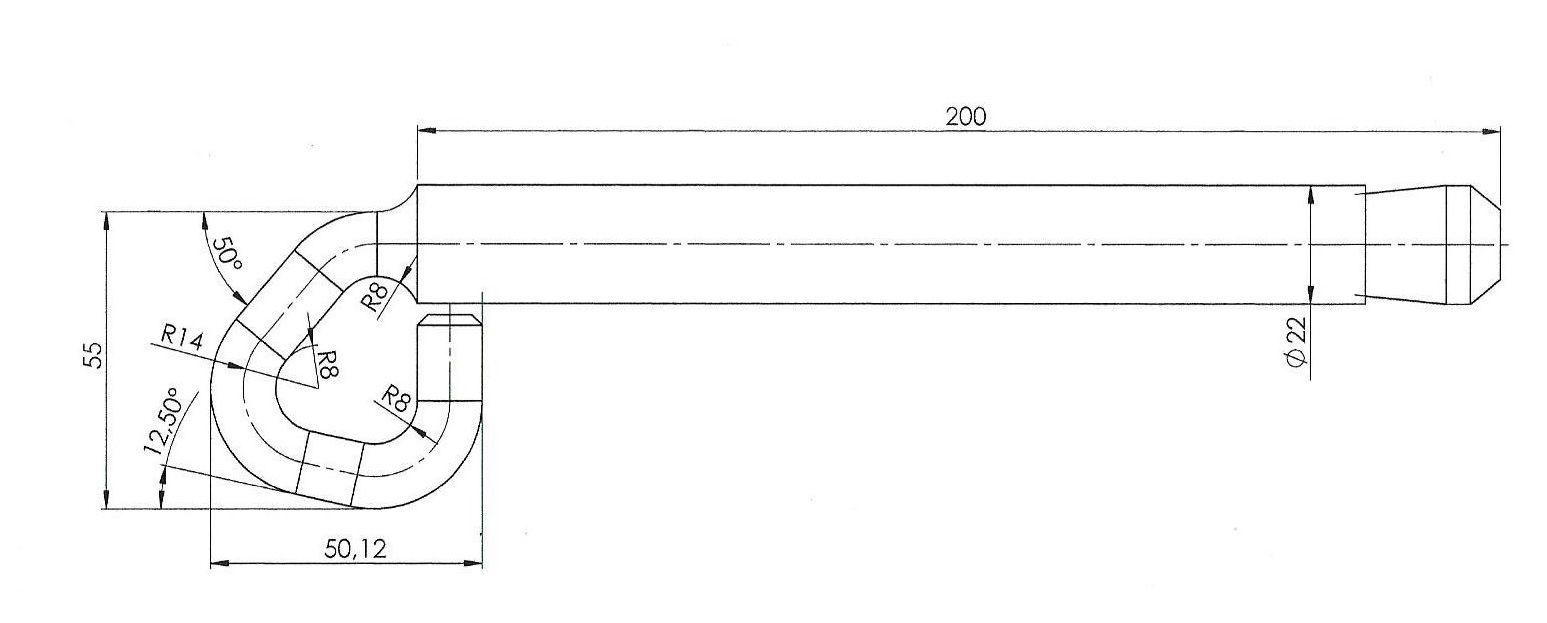 Zeichnung der KTA Normöse