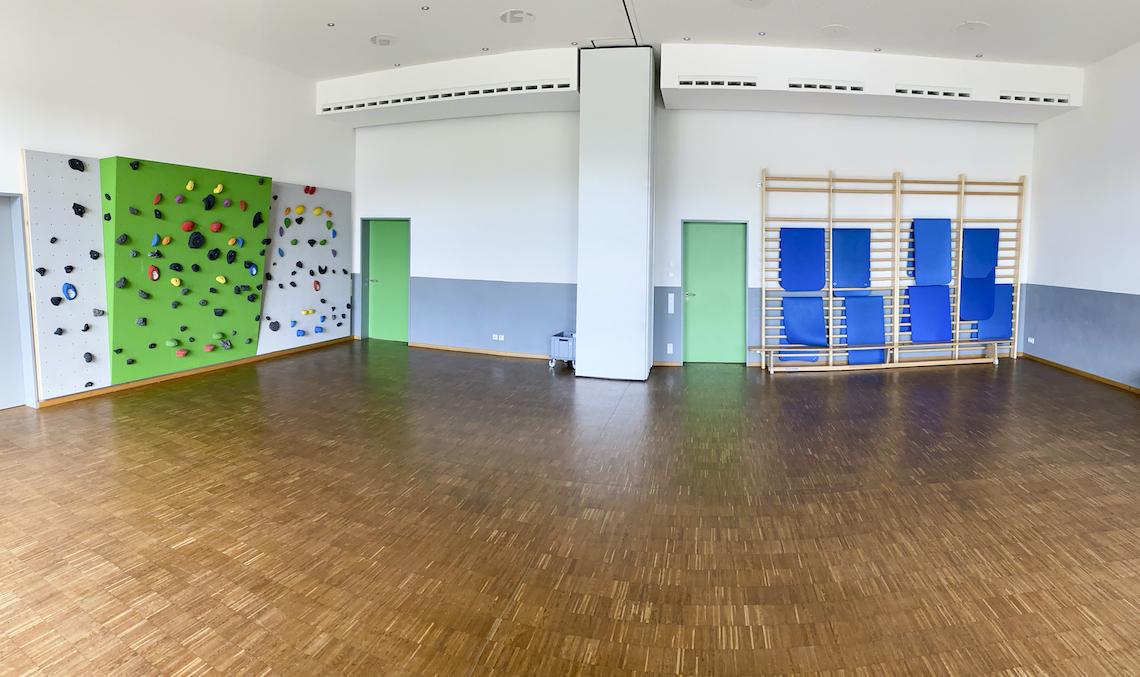 Der Sportraum der Kletterhalle