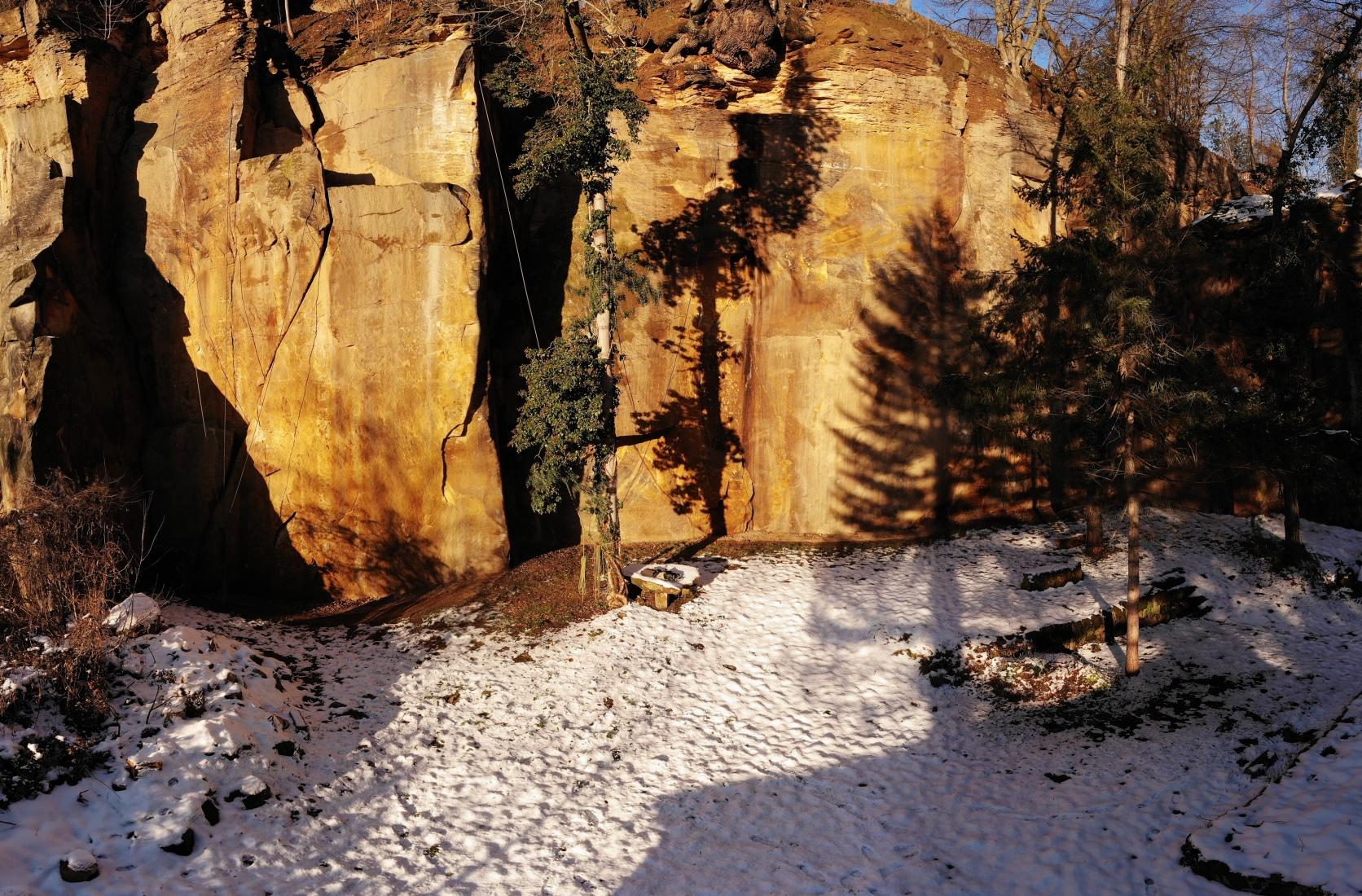 Klettergarten Erweiterung im Schnee